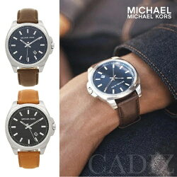 美國正品 Michael Kors 深淺棕真皮男錶 Bryson Leather watch MK8631 MK8659