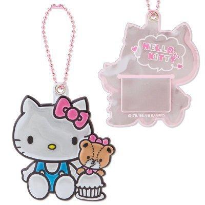 【真愛日本】15111900021 姓名吊牌-閃亮銀KT小熊 三麗鷗Hello Kitty凱蒂貓 吊牌 名片夾 證件夾