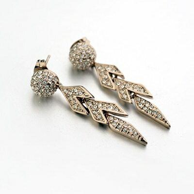 ~玫瑰金耳環925純銀鑲鑽耳飾~ 奢華獨特 情人節生日 女飾品73gs78~ ~~米蘭 ~