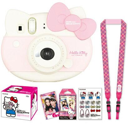 日本必買 免運/代購-日本富士Fujifilm拍立得/Instax mini/Hello Kitty/白色款/附相機背帶/貼紙/底片/4547410290622。共1色