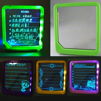 【aife life】螢光看板,透明超亮 LED寫字板看牌、手寫板,附螢光筆