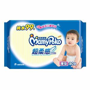 滿意寶寶 純水 超柔感 濕毛巾 厚型 80張 / 包 0