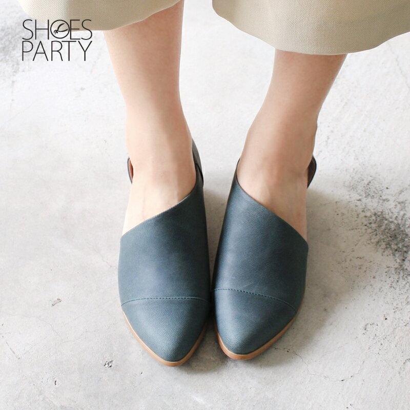 【P2-17825L】外側簍空真皮踝靴_Shoes Party 2