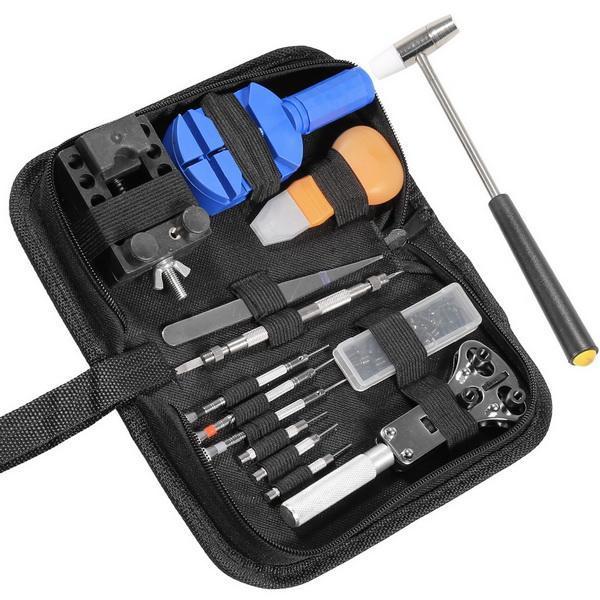 14pcs Watch Repair Tool Kit Case Opener Link Spring Bar Band Pin Remover Hammer 0
