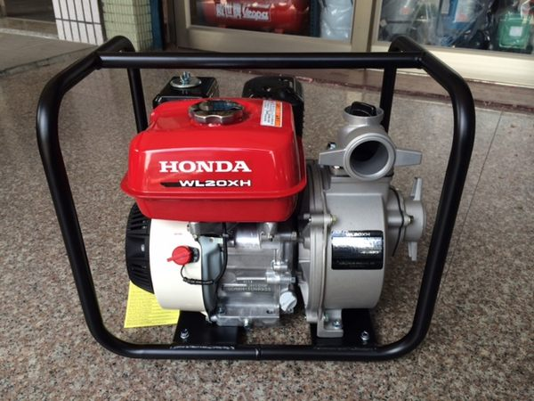 HONDA原廠5.5HP*2英吋自吸式汽油引擎抽水機(幫浦及引擎都是本田公司貨)-WL20XH(含稅價)