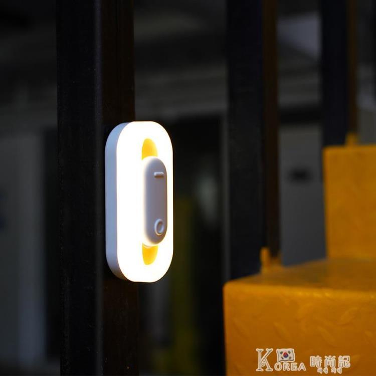 智慧人體感應燈led衣柜櫥柜墻壁小夜燈起夜usb充電宿舍臥室床頭燈