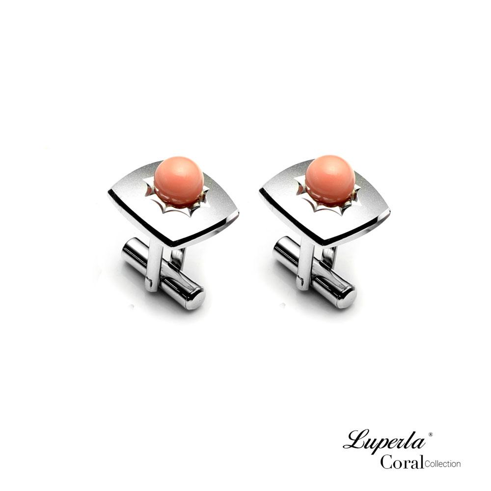 大東山珠寶 自我宣言 仕紳系列 天然粉珊瑚  西裝領徽 袖扣 0
