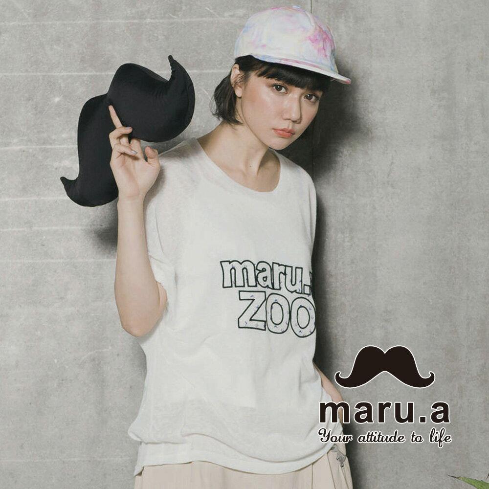 【maru.a】Maru.aZoo刺繡印花文字上衣 7323115 2