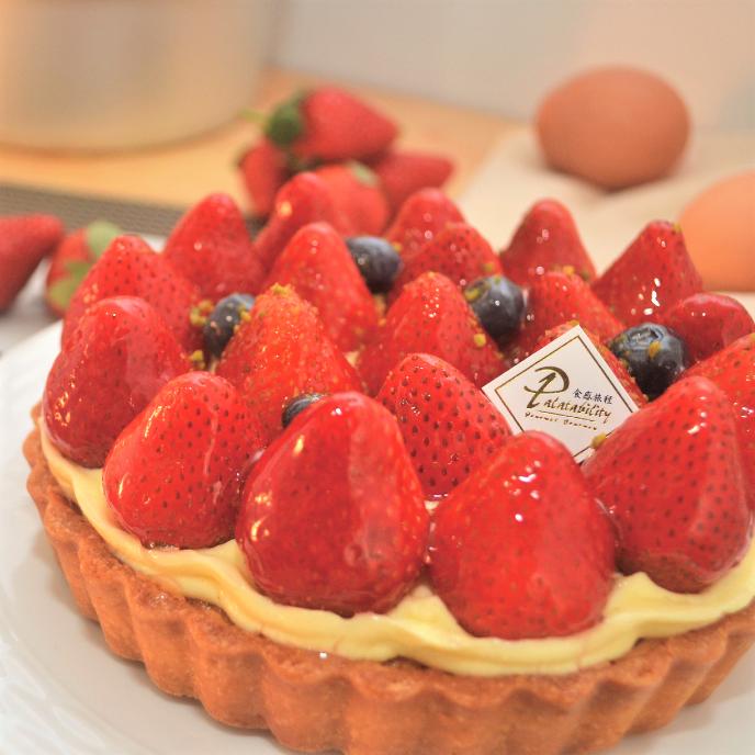 6吋繽紛草莓塔★精選有機草莓