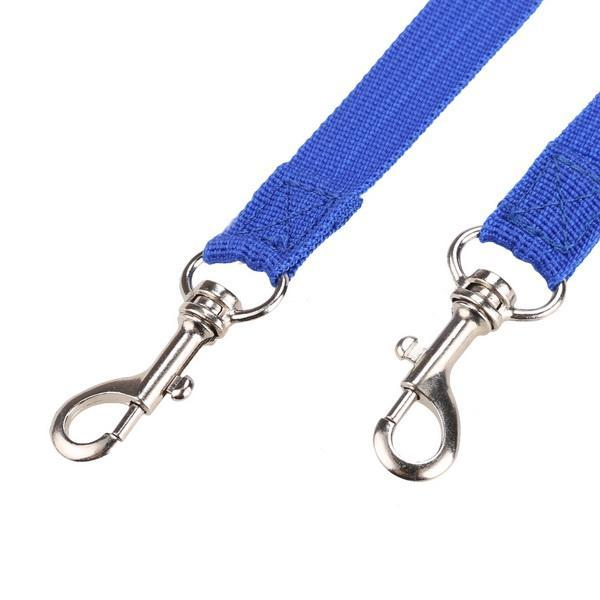 Nylon Strong Double Dog Lead Leash Couple Pet Collar Leash for Collar Harness 5