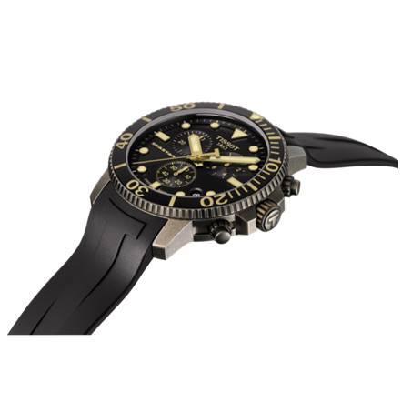 TISSOT 天梭 T1204173705101 Seastar海星300米潛水錶 黑 金 46mm 4