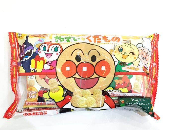 麵包超人 Anpanman 不二家 餅乾 蔬果餅 6袋入168g 南瓜蘋果 紅蘿菠柳橙 菠
