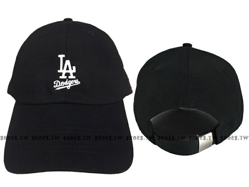 Shoestw【5762003-900】MLB 美國大聯盟 調整帽 老帽 道奇隊 小LOGO 黑色 男女都可戴