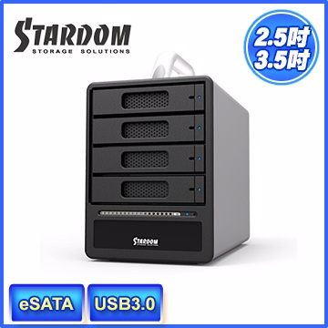 STARDOM ST4-SB3 3.5吋/2.5吋 USB3.0/eSATA 4bay硬碟外接盒(和順電通) [天天3C]