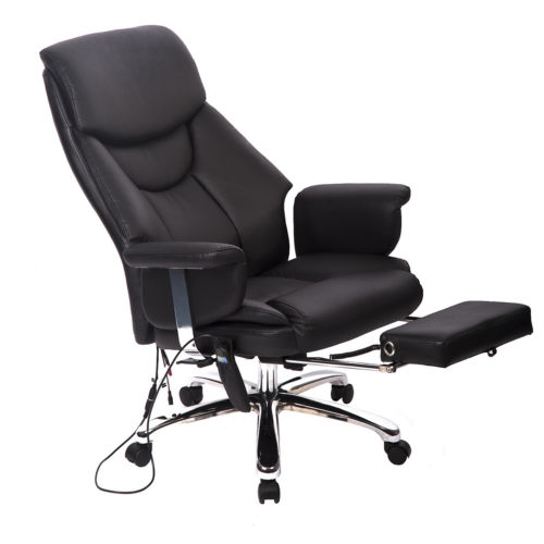 Executive Vibrating Mage Office Chair With Footrest 0