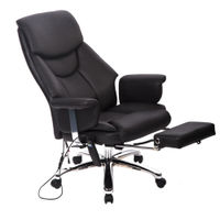 Deals on Executive Vibrating Massage/Office Chair with Footrest