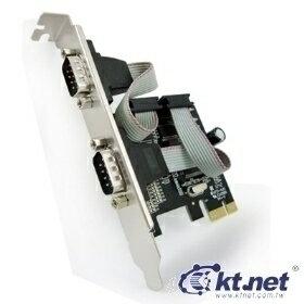 [富廉網]【KTNET】KTCAPIEMOS9922-2S PCI-E 9公*2埠 9922 擴充卡