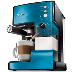 【送咖啡豆2包】OSTER 美國  第二代奶泡大師 義式咖啡機 BVSTEM6602B 礦藍 PRO升級版