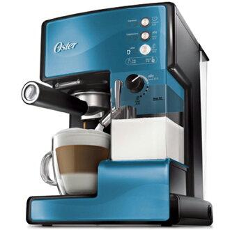 【送白瓷咖啡杯組】OSTER 美國 第二代奶泡大師 義式咖啡機 BVSTEM6602 B 礦藍 PRO升級版