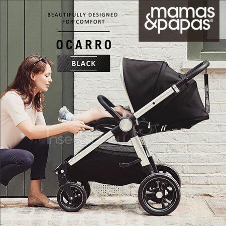 ✿蟲寶寶✿【英國mamas&papas】新生兒可平躺快速收折雙向座椅好推培林輪嬰兒手推車Ocarro爵士黑