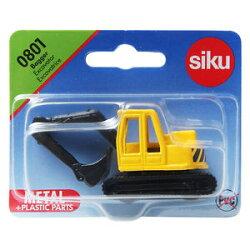 (卡司 正版現貨) 德國小汽車 SIKU 履帶式挖土機 SU0801 兒童禮物 模型車 玩具車