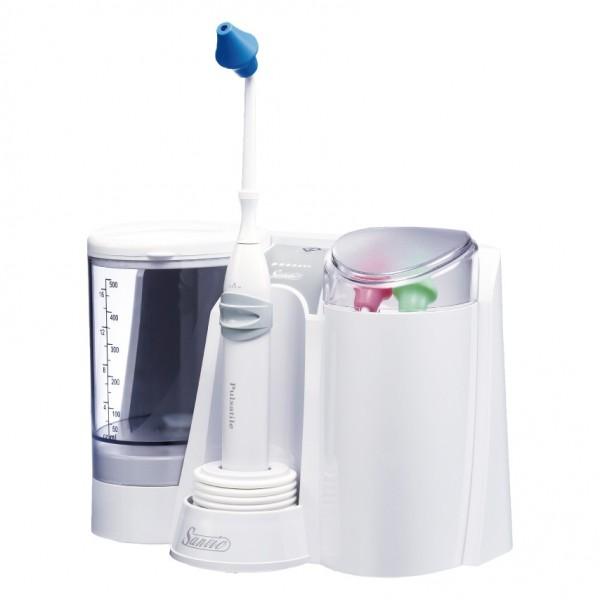 善鼻脈動式洗鼻器-家庭型 SH953 (內附3支洗鼻桿),加贈洗鼻鹽120包及成人平面口罩一盒