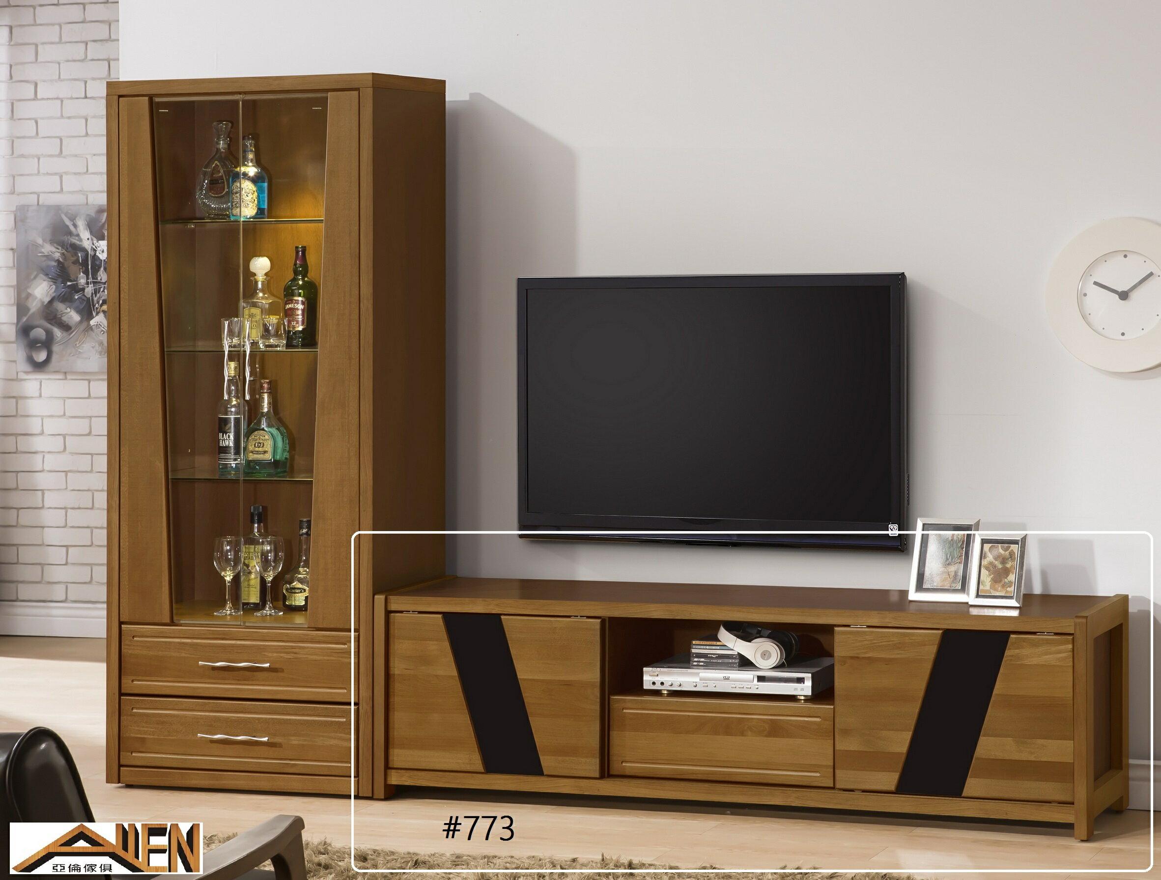 亞倫傢俱*文森卡索南洋檜實木6尺電視櫃 - 限時優惠好康折扣