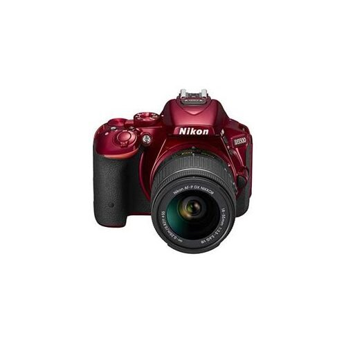 Nikon D5500 Digital SLR with 18-55mm AF-P VR Lens - Red