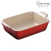 Le Creuset 長方形焗烤盤 陶瓷烤盤 烘培烤盤 紅色 24x19cm 0