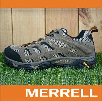 【出清7折!】萬特戶外運動 MERRELL MOAB GORE-TEX防水 男款低筒登山健行鞋 黃金大底 褐色