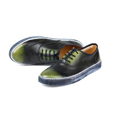 短靴真皮繫帶靴子-街頭時尚做舊巴洛克雕花男靴3色73kk81【獨家進口】【米蘭精品】