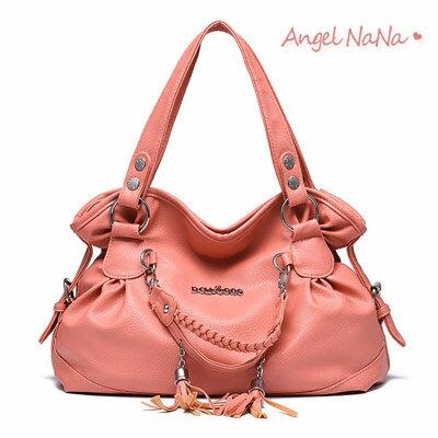 <br/><br/>  側背包。 AngelNaNa 韓版 花苞造型 編織 流蘇 女手提包【BA0201】<br/><br/>