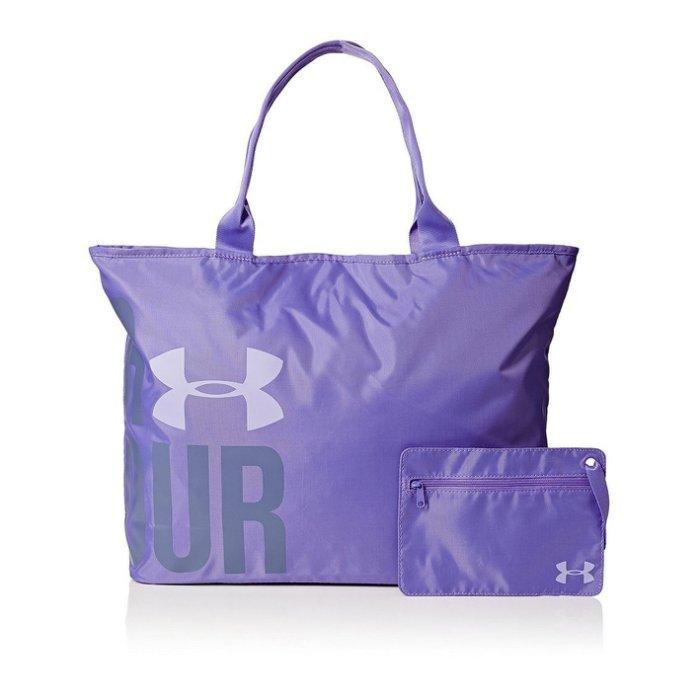美國百分百【Under Armour】運動時尚 UA Logo 手提袋 肩背包 托特包 瑜珈袋 側背包 紫色 H797