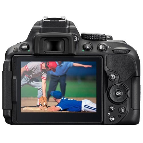 "Nikon D5300 24.2 Megapixel Digital SLR Camera with Lens - 18 mm - 55 mm - Black - 3.2"" LCD - 16:9 - 3.1x Optical Zoom - Optical (IS) - 6000 x 4000 Image - 1920 x 1080 Video - HDMI - PictBridge - HD Movie Mode - Wireless LAN - GPS 3"