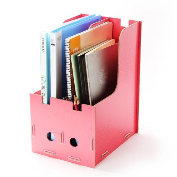 文件收納櫃-加厚木質桌面 DIY 拼裝 置物 分類 A4文件 書架書櫃 多格 分層 07【AN SHOP】