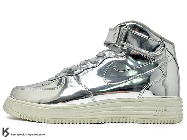 限量發售 2014 太空科技 結合 經典鞋款 NIKE LUNAR FORCE 1 MID SP LIQUID METALLIC SILVER TZ 全銀 銀斧頭 中筒 AIR HBA (652849-092) !