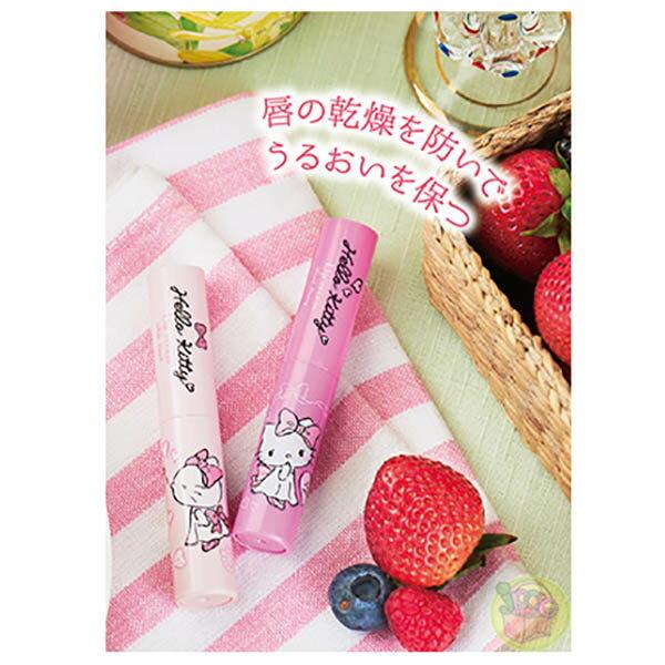 【凱蒂貓 護唇膏】凱蒂貓 太陽油脂 果香 潤澤 護唇膏 日本製 該該貝比日本精品