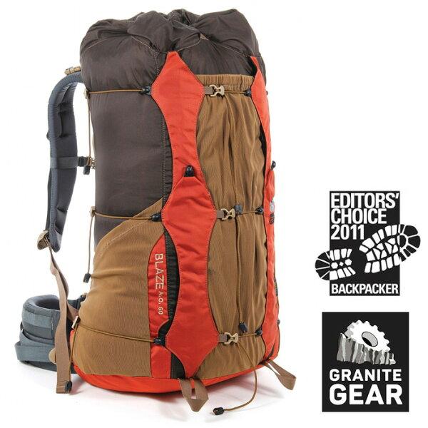 【Granitegear美國】BLAZE55專業輕量強韌登山包登山背包女款橘色(6061731222)