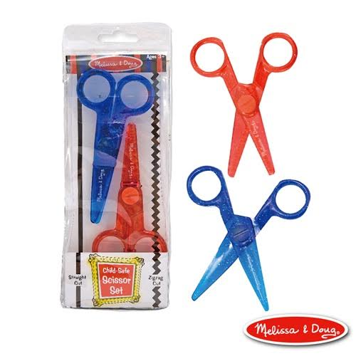 美國【瑪莉莎 Melissa & Doug】兒童專用塑膠安全剪刀組(直線+鋸齒)