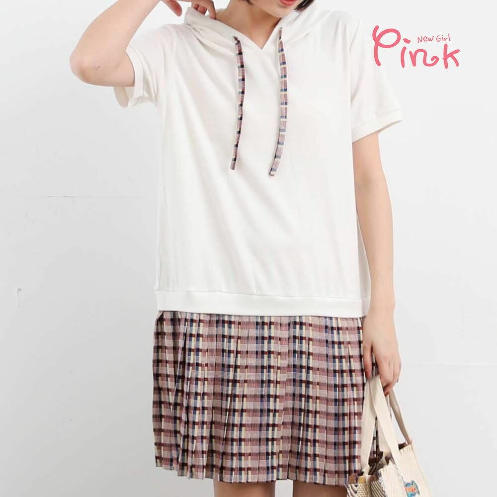 Pink*鄰家女孩連帽洋裝 R1105AD80