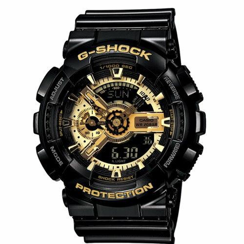 CASIO/G-SHOCK/耀眼奪目時尚腕錶/黑*金/GA-110GB-1A/原價$4900