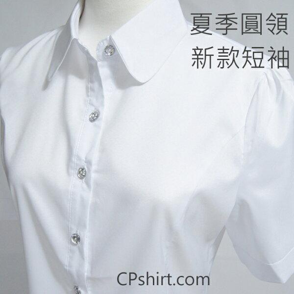夏季新款 平價 OL 圓領 襯衫 OL套裝 OL上衣 短袖 wcps43