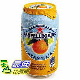 [COSCO代購 如果沒搶到鄭重道歉] San Pellegrino 聖沛黎洛 氣泡水果飲料 甜橙口味 330毫升 X 24罐 W108310