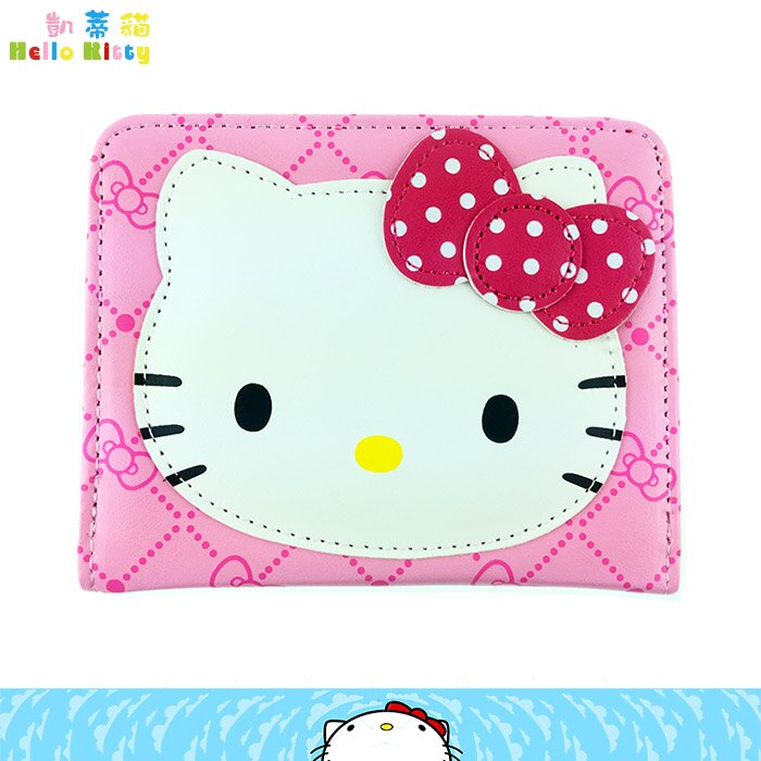 大田倉 韓國進口正版Hello Kitty 凱蒂貓 皮夾 短夾 零錢包 皮包 三麗鷗 149865