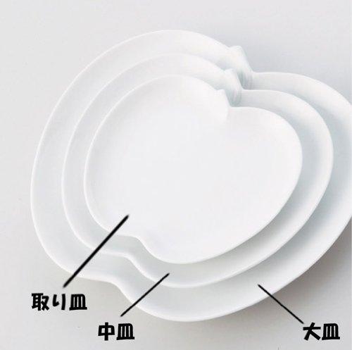 日本陶瓷 小田陶器 小 蘋果盤 apple~小餐盤 白瓷盤 茶點 點心糕點 水果盤 陶瓷 餐具 碟子