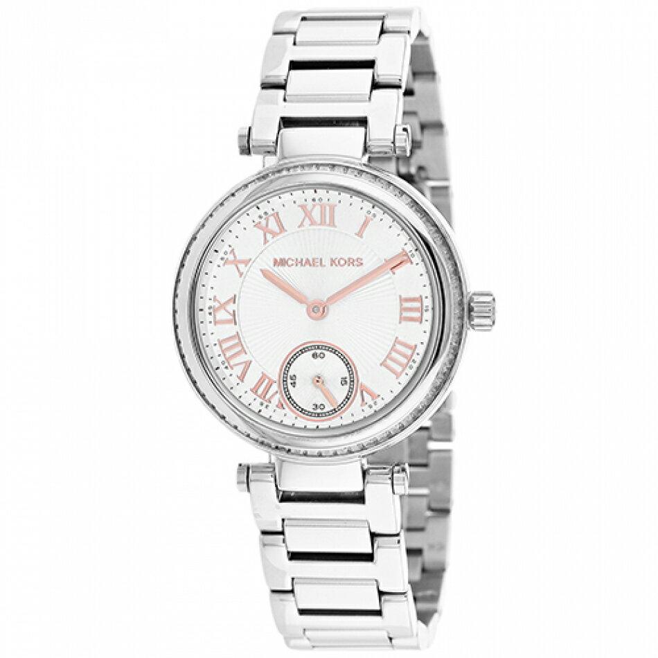 Outlet正品代購 Michael Kors MK 晶鑽羅馬數字 女錶 手錶 腕錶 銀色 MK5970