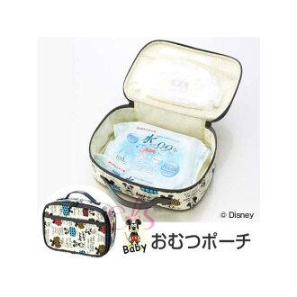 日本 米奇 不織布手提收納包/外出尿布收納袋 ☆艾莉莎ELS☆
