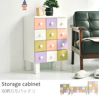 收納櫃 電視櫃 置物架【K0040】安娜雅多抽彩格4層邊櫃 完美主義