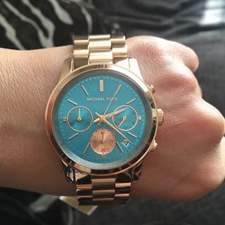 美國 Outlet 美國正品代購 Michael Kors MK 不鏽鋼 藍面 玫瑰金錶帶 三環計時日曆手錶腕錶 MK6164【輸入:coupon03 現折50】 7