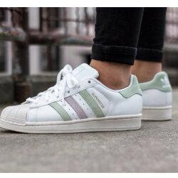【日本海外代購】Adidas Superstar W 櫻花粉 貝殼頭 麂皮 白色 皮革 粉綠 奶油底 金標 粉色女